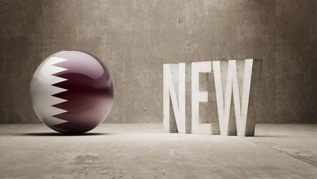 renewed: Qatar  New Concept Stock Photo