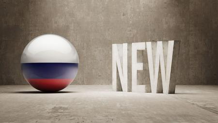 renewed: Russia New Concept Stock Photo