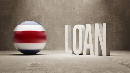costa rica: Costa Rica  Loan Concept Stock Photo