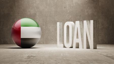 United Arab Emirates  Loan Concept