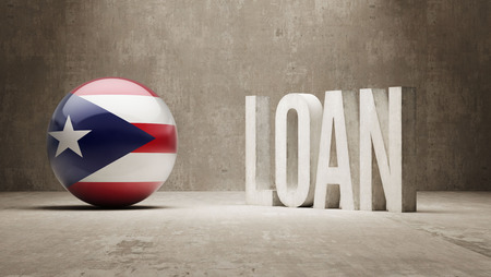 Puerto Rico Loan Concept Stock Photo