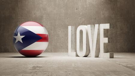 puerto rico: Puerto Rico Love Concept