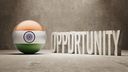 opportunity concept: India Opportunity Concept Stock Photo