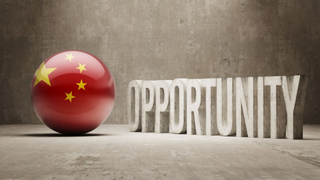 opportunity concept: China Opportunity Concept Stock Photo
