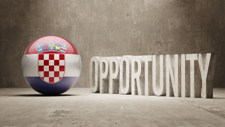 opportunity concept: Croatia Opportunity Concept Stock Photo
