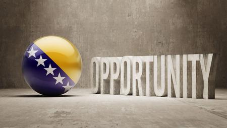 herzegovina: Bosnia and Herzegovina  Opportunity Concept Stock Photo