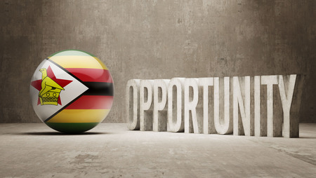 opportunity concept: Zimbabwe  Opportunity Concept Stock Photo