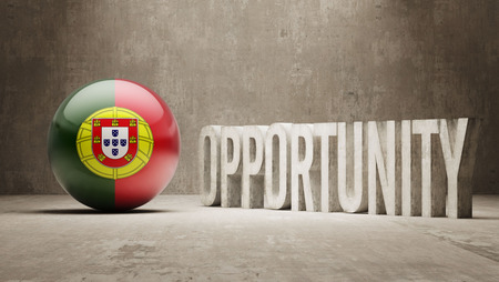 opportunity concept: Portugal Opportunity Concept Stock Photo