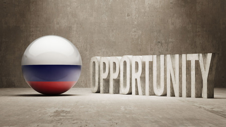 opportunity concept: Russia Opportunity Concept Stock Photo