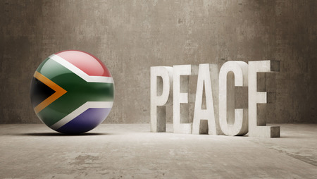 pacifist: South Africa  Peace Concept Stock Photo