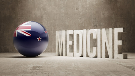 new medicine: New Zealand  Medicine Concept Stock Photo