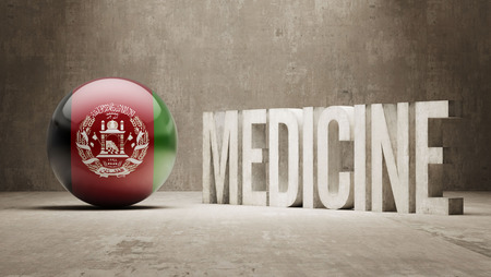 health care funding: Afghanistan  Medicine Concept
