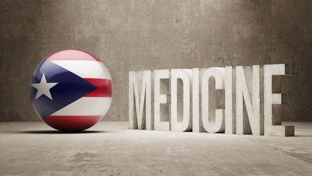puerto rico: Puerto Rico Medicine Concept