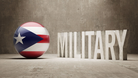 major force: Puerto Rico  Military Concept Stock Photo