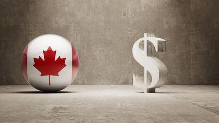 캐나다 높은 해상도 돈을 서명 개념