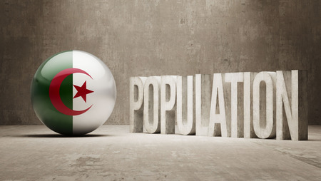Algeria High Resolution Population Concept photo