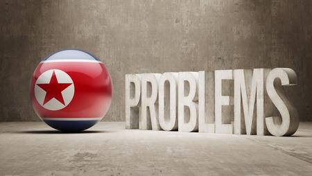 north korea: North Korea   Problems Concept Stock Photo
