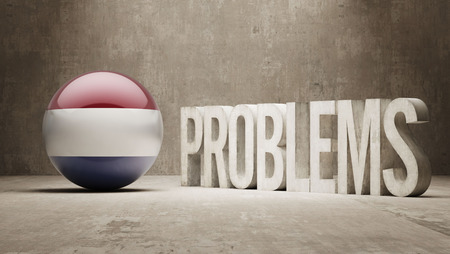 Netherlands Problems Concept photo