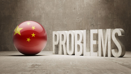 inaccurate: China  Problems Concept