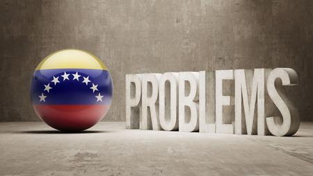 Venezuela  Problems Concept Stock Photo