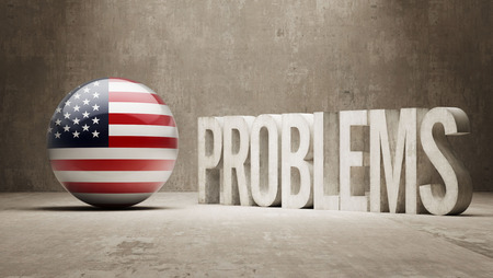 rectify: United States  Problems Concept Stock Photo