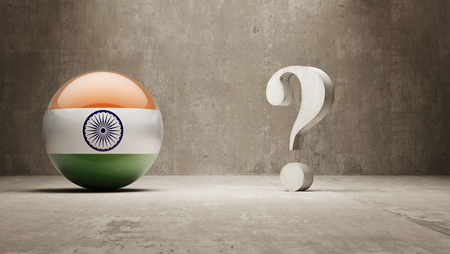 India   Question Mark Concept photo