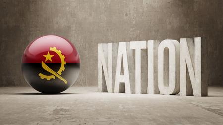 angola: Angola  Nation Concept Stock Photo