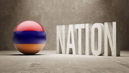 nation: Armenia  Nation Concept Stock Photo