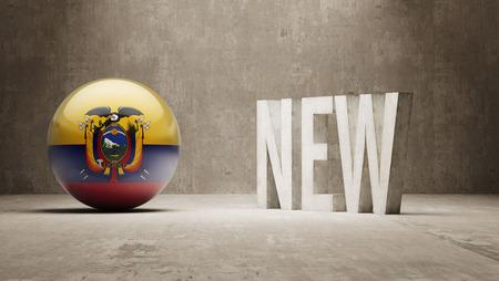 renewed: Ecuador  New Concept Stock Photo