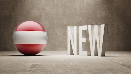 renewed: Austria  New Concept Stock Photo