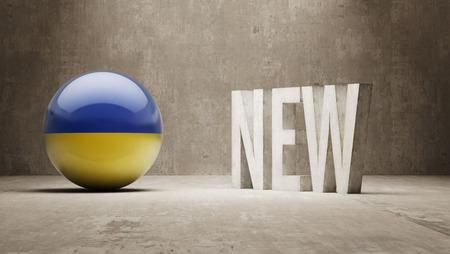 renewed: Ukraine New Concept Stock Photo