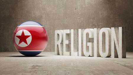 worshipper: North Korea  Religion Concept Stock Photo