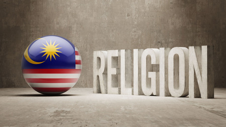 worshipper: Malaysia  Religion Concept Stock Photo