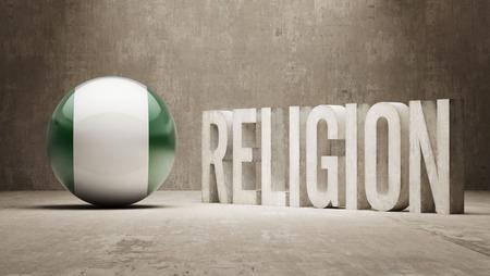 worshipper: Nigeria  Religion Concept Stock Photo