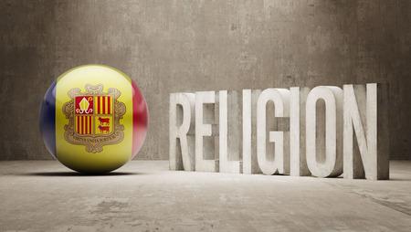 worshipper: Andorra Religion Concept Stock Photo