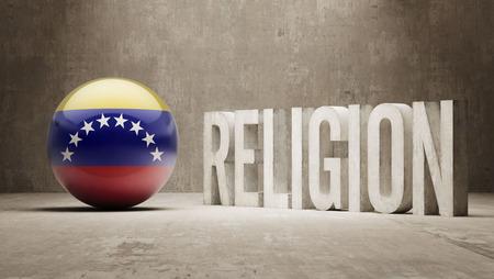 worshipper: Venezuela Religion Concept Stock Photo