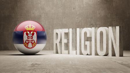 worshipper: Serbia  Religion Concept Stock Photo