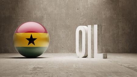 Ghana  Oil Concept Stock Photo
