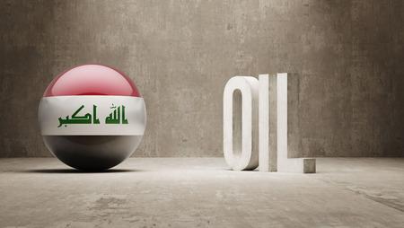 oilfield: Iraq  Oil Concept Stock Photo