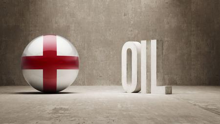 oilfield: England  Oil Concept
