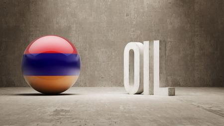 oilfield: Armenia  Oil Concept