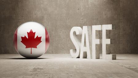 cautionary: Canada  Safe Concept Stock Photo
