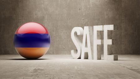 cautionary: Armenia High Resolution Safe Concept Stock Photo