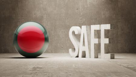 cautionary: Bangladesh  Safe Concept Stock Photo