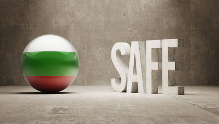 safely: Bulgaria Safe Concept Stock Photo