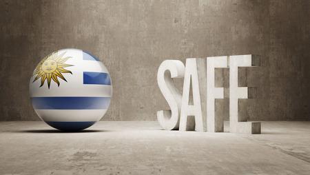 cautionary: Uruguay  Safe Concept Stock Photo