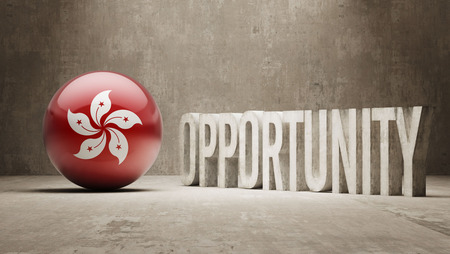 opportunity concept: Hong Kong Opportunity Concept Stock Photo