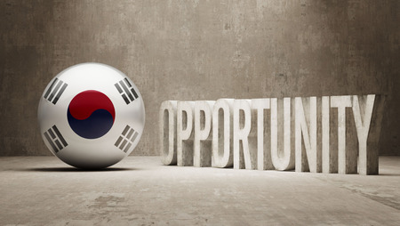 opportunity concept: South Korea Opportunity Concept Stock Photo