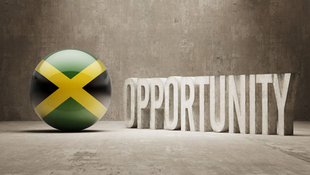 opportunity concept: Jamaica  Opportunity Concept Stock Photo