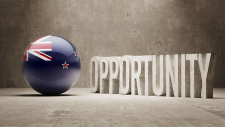 new opportunity: New Zealand  Opportunity Concept Stock Photo